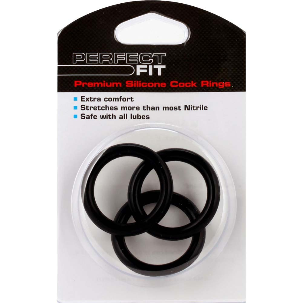 Perfect Fit Silicone 3 Ring Kit X Large Black - View #1