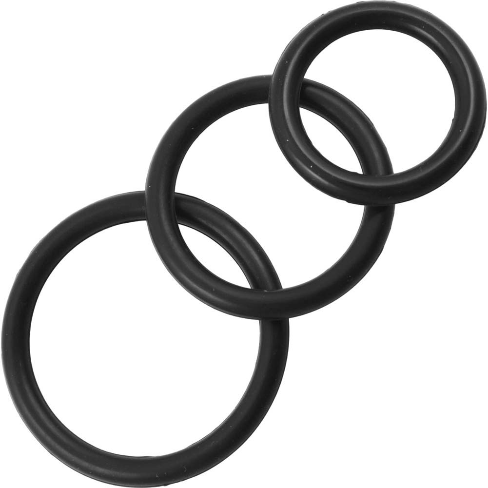 Perfect Fit Silicone 3 Ring Kit Mix Black - View #2