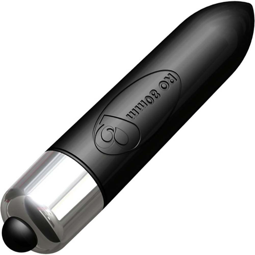 "Rocks-Off RO-80mm Waterproof Vibrating Bullet 3.25"" Black - View #1"