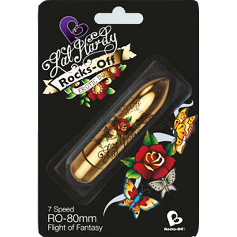 "Rocks-Off Lal Hardy RO-80mm Flight of Fantasy Tattoo Bullet 3.25"" - View #1"