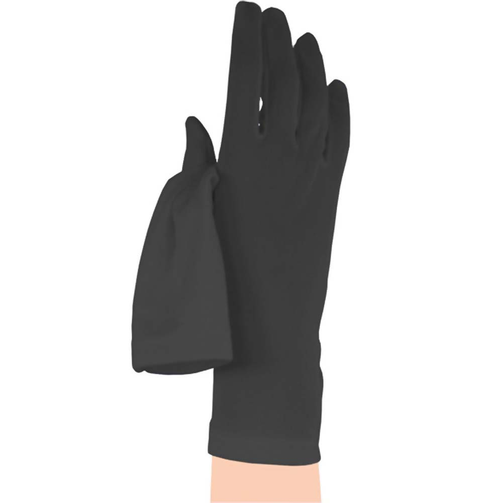 Satin Gloves - Black - View #1