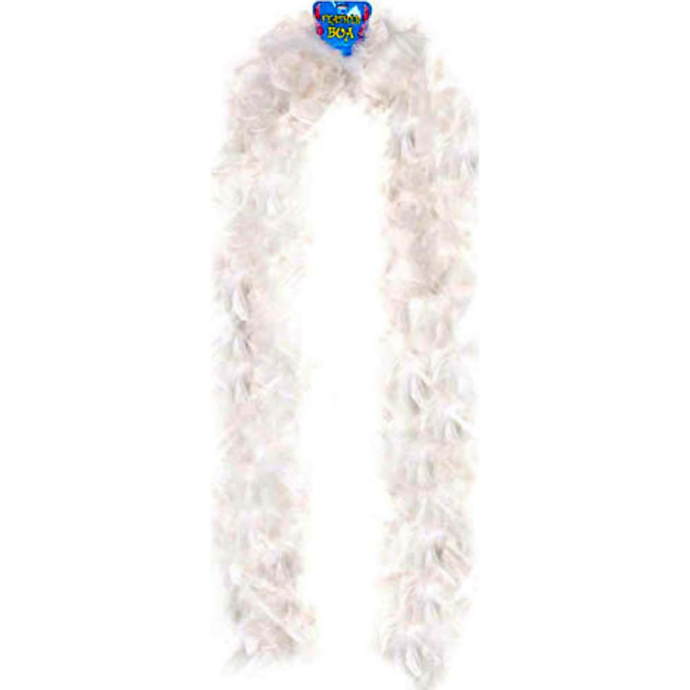 "Lightweight Feather Boa Party Accessory 72"" White - View #1"