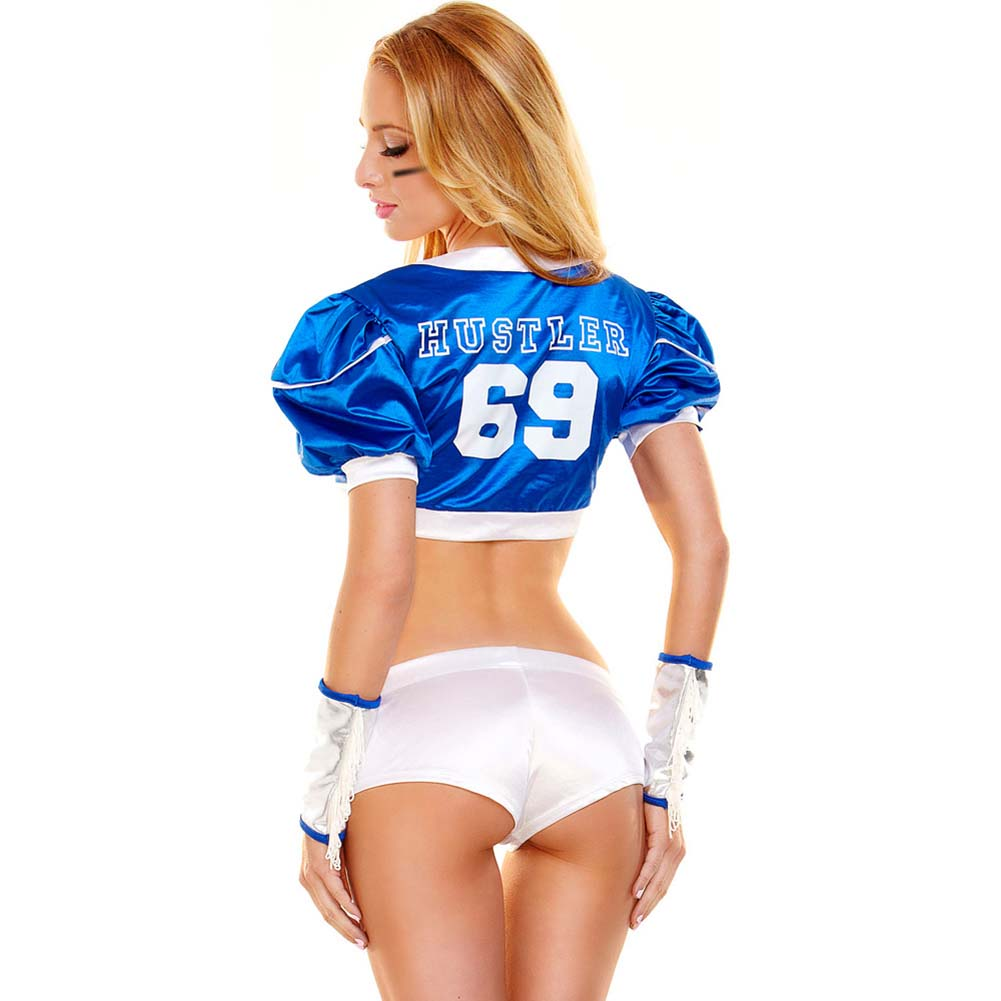 Hustler Tight End Football Player No. 69 Costume Set Small/Medium - View #2