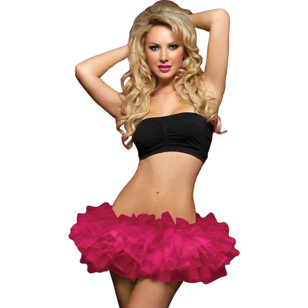 Seven Til Midnight Multi Layer Tulle Tutu Skirt Wiith Elastic Waistband One Size Pink - View #1