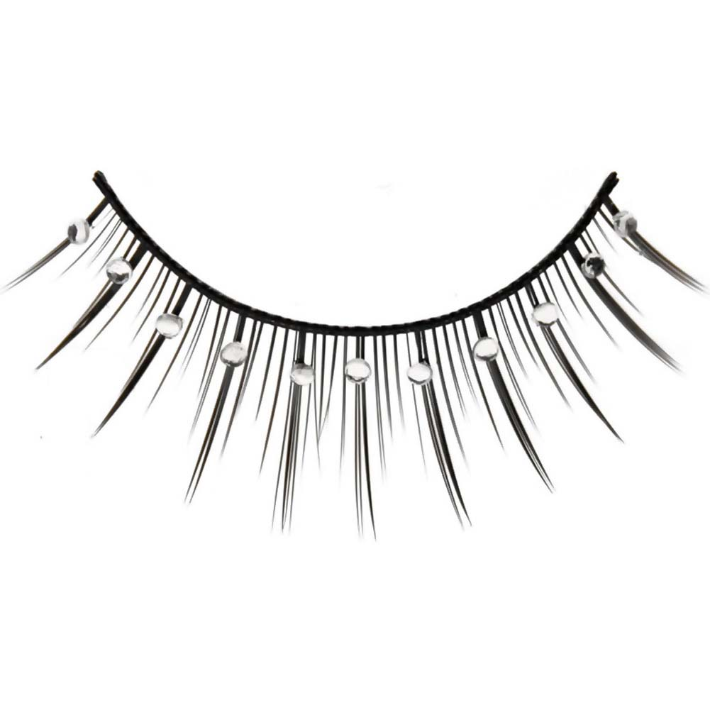 Eye Candy Born To Flirt Flirty Lashes with Crystal Accents Black - View #2