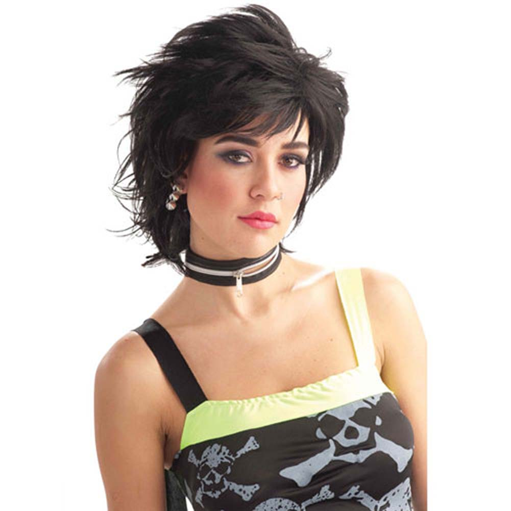 Punk Idol Wig for Him or Her - Black - View #1