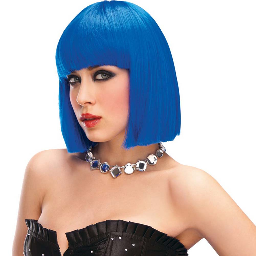 Pleasure Wigs Cleo Wig Blue - View #1
