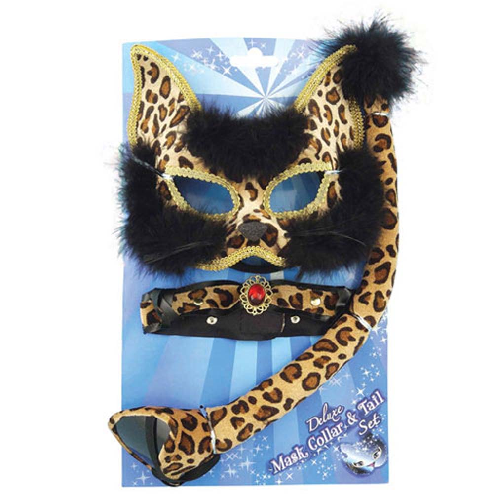 Deluxe Leopard Mask Set - View #1