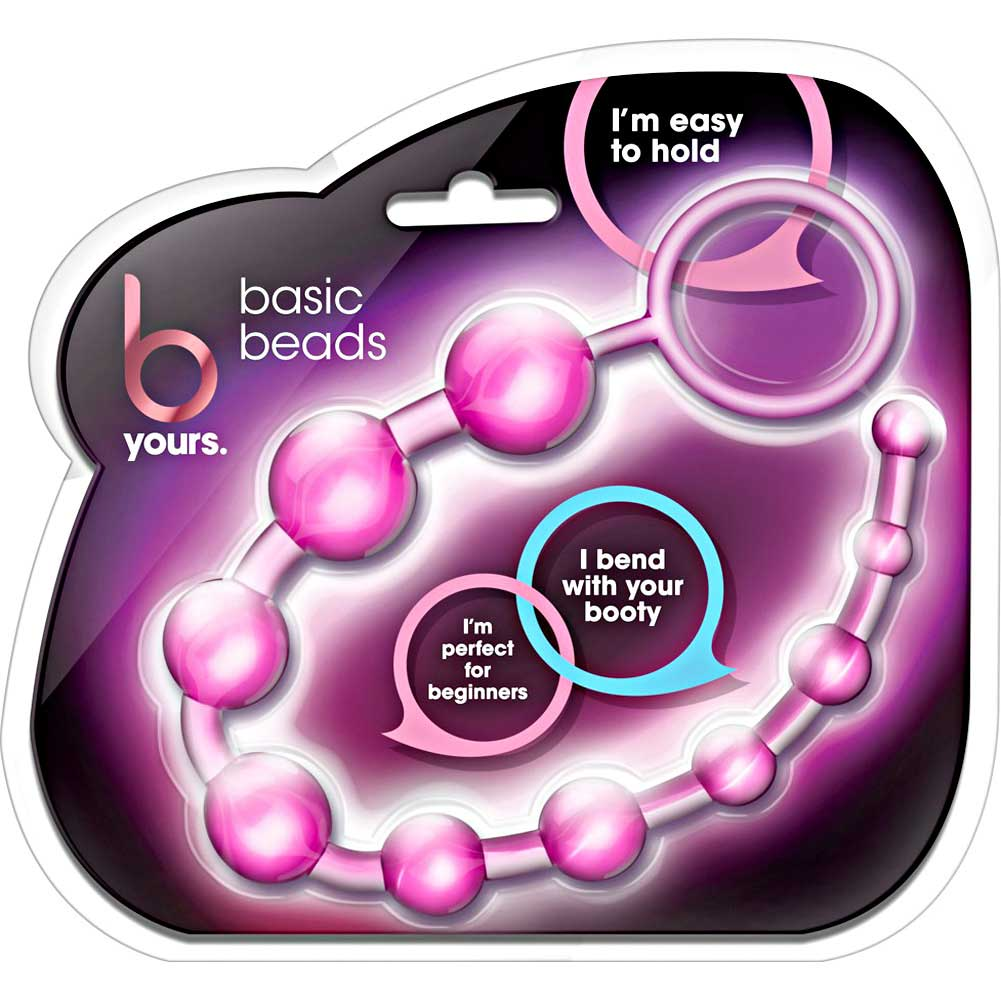 "Blush B Yours Basic Anal Beads 12.75"" Pink - View #1"