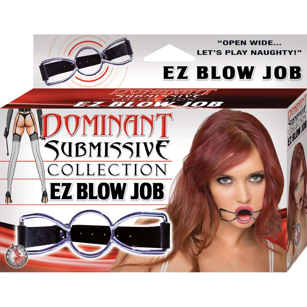 Dominant Submissive Collection EZ Blow Job Gag Black - View #1