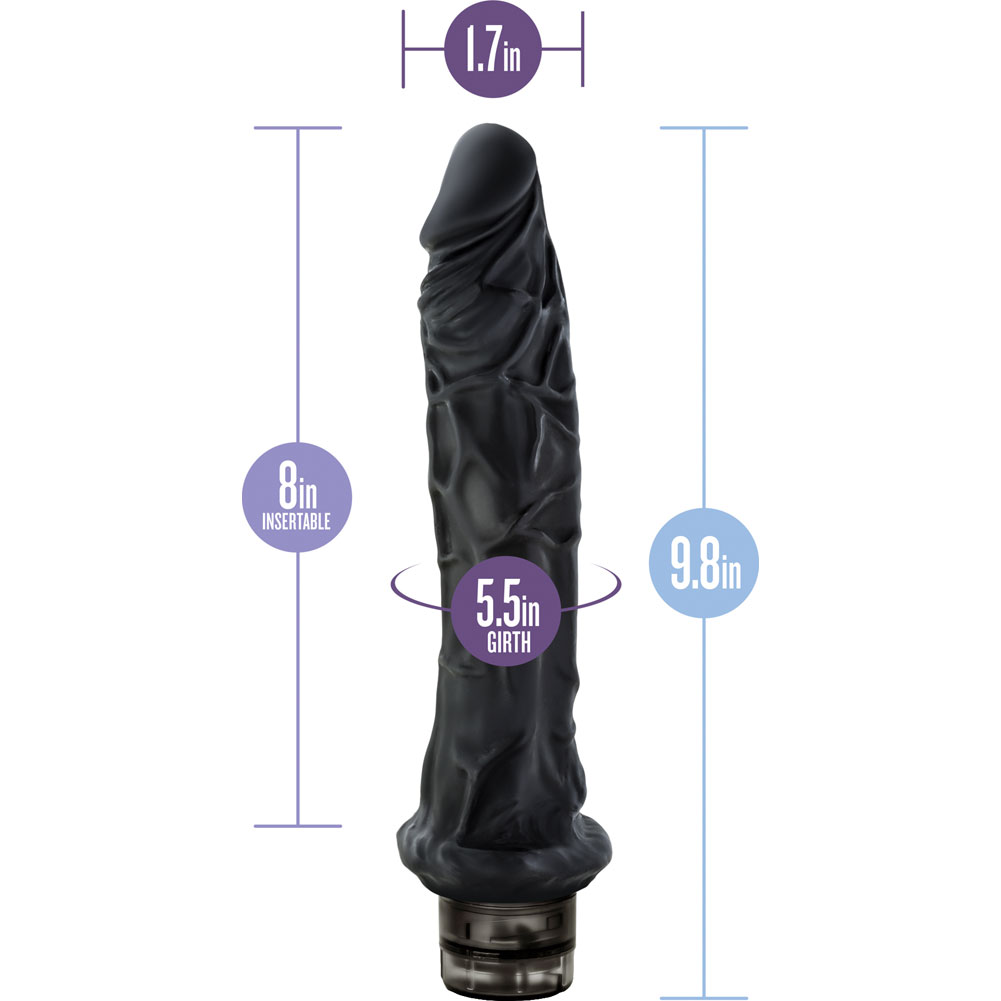 "Blush B Yours No. 8 Vibrator 9.5"" Black Bulk - View #1"