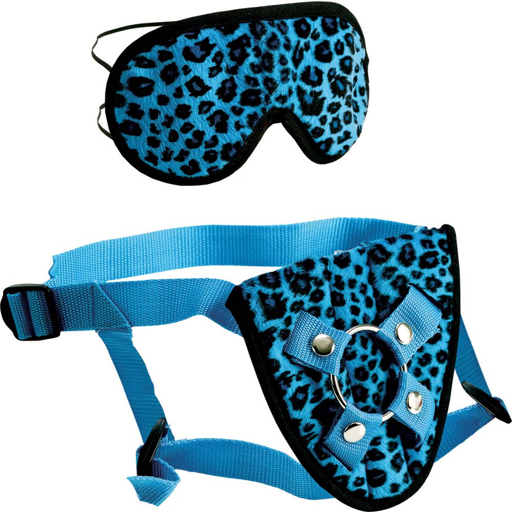 Furplay Universal Harness and Mask Set Blue Leopard - View #2