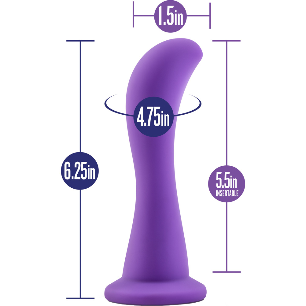 "Blush Luxe Serene - G-Spot Silicone Dong 6.25"" Purple - View #1"