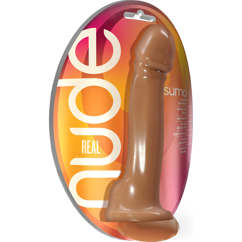 "Blush Real Nude Sumo - Silicone Dildo 9.5"" Toffee - View #1"