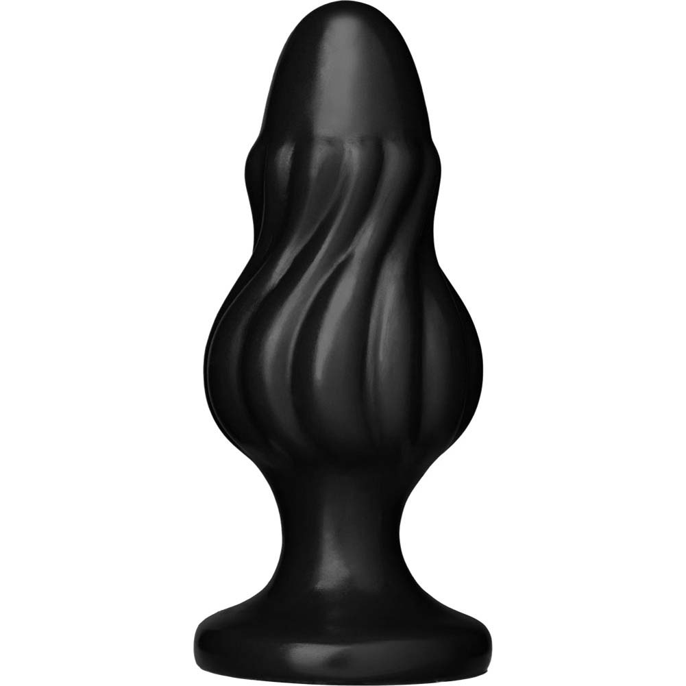 "Platinum Premium Silicone The Spin Butt Plug 5"" Black - View #2"