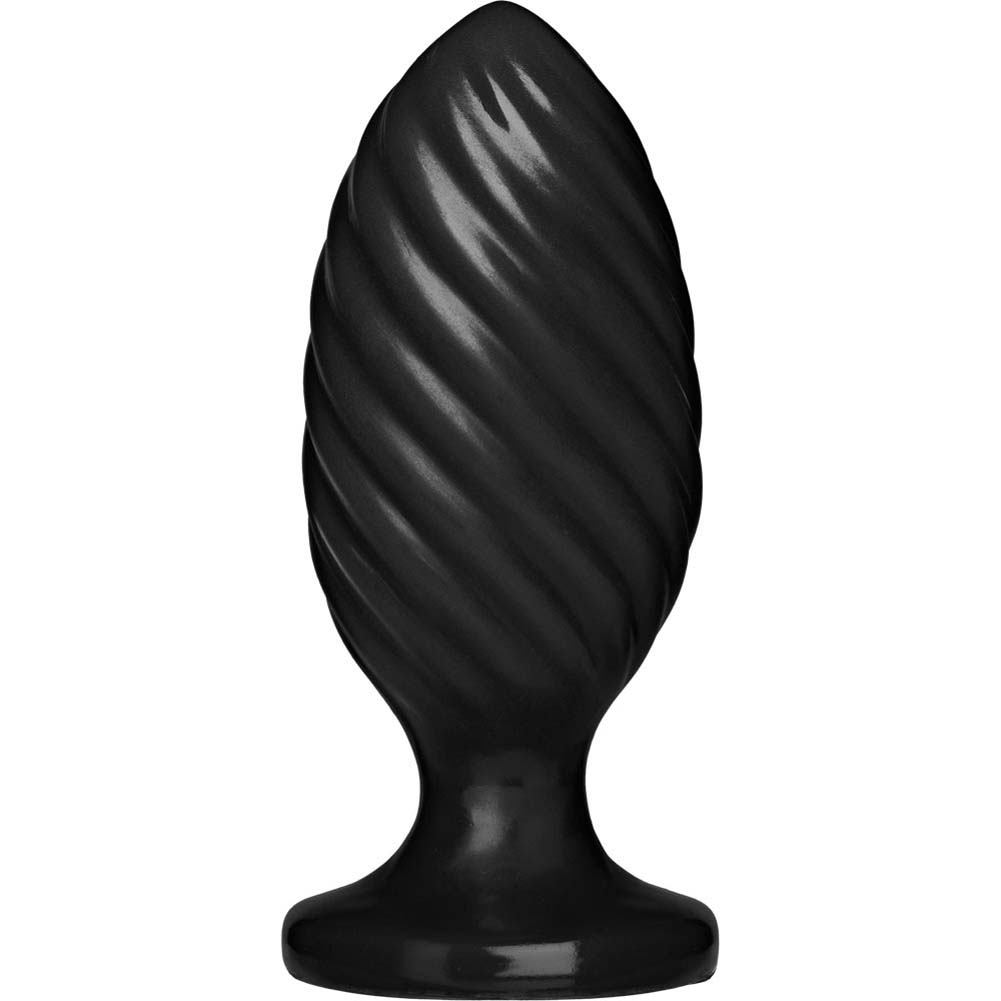 "Platinum Premium Silicone The Swirl Butt Plug 5"" Black - View #2"