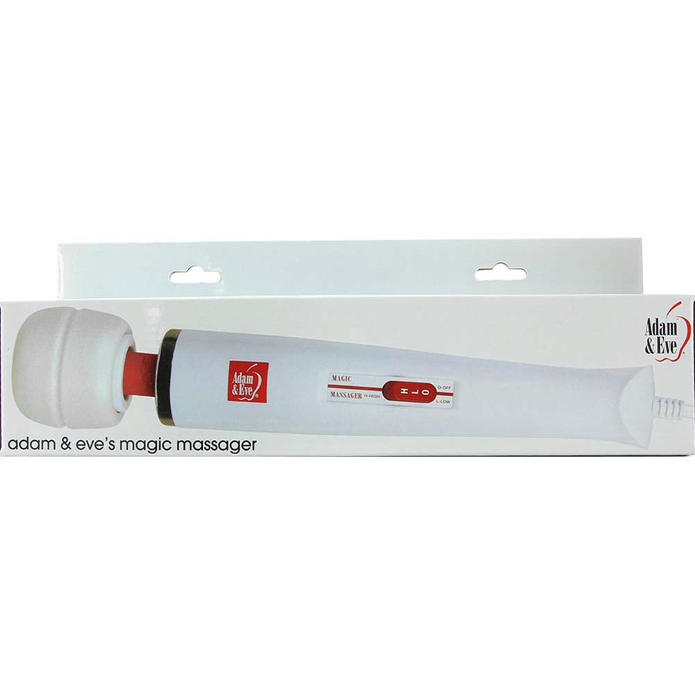"""Adam and Eve Magic Massager - Electric Vibrator 12.75"""" White - View #1"""