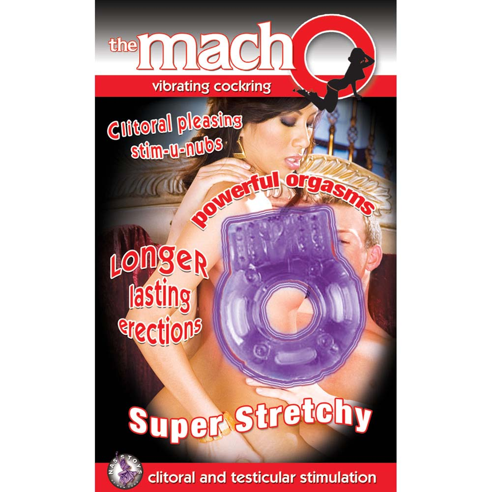 Macho Vibrating Cockring Purple - View #1