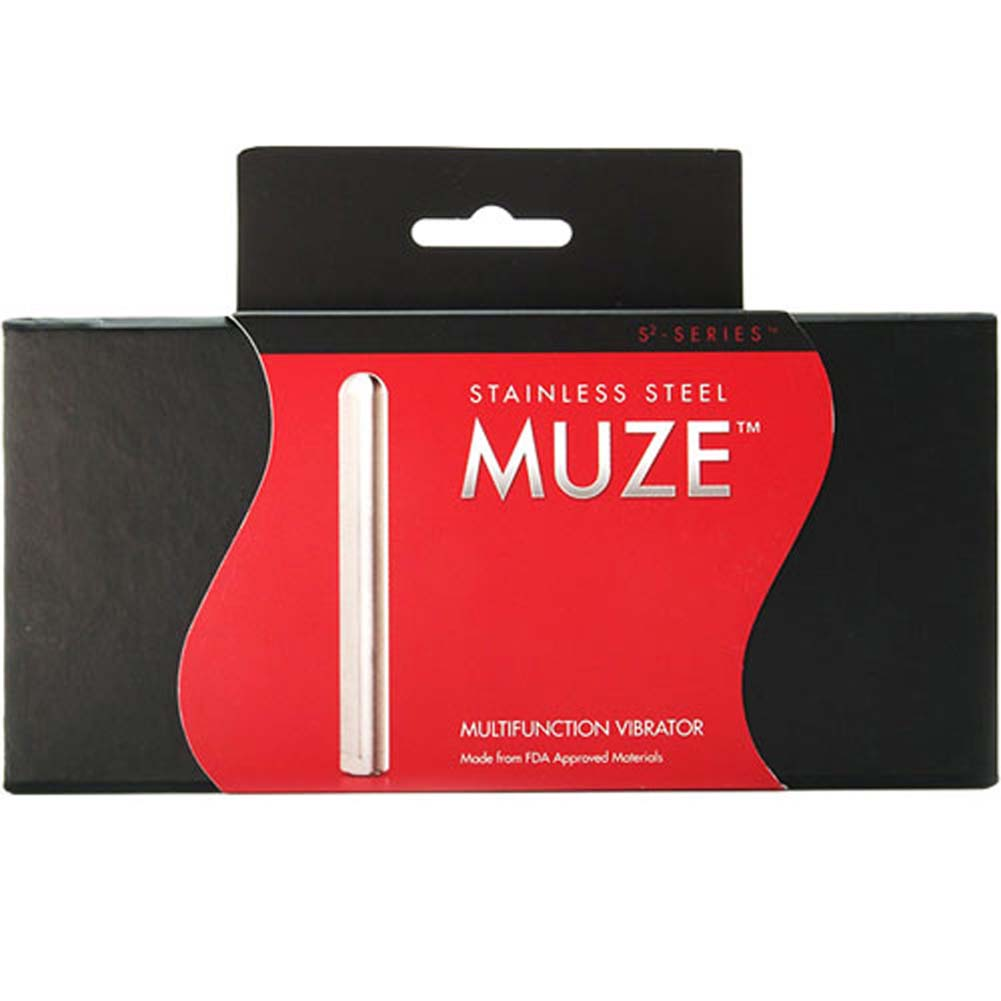 "Aneros Muze Unisex Multifunction Vibrator 4"" Stainless Steel - View #2"