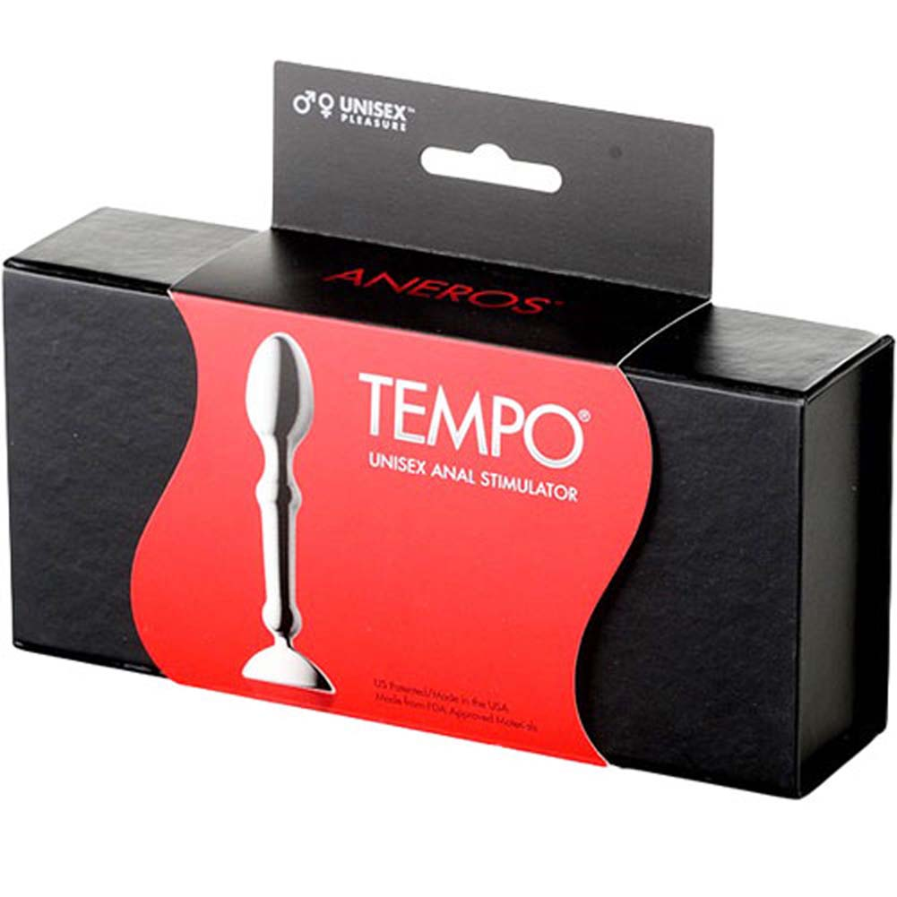 "Aneros Tempo Unisex Anal Stimulator 4.25"" Stainless Steel - View #1"