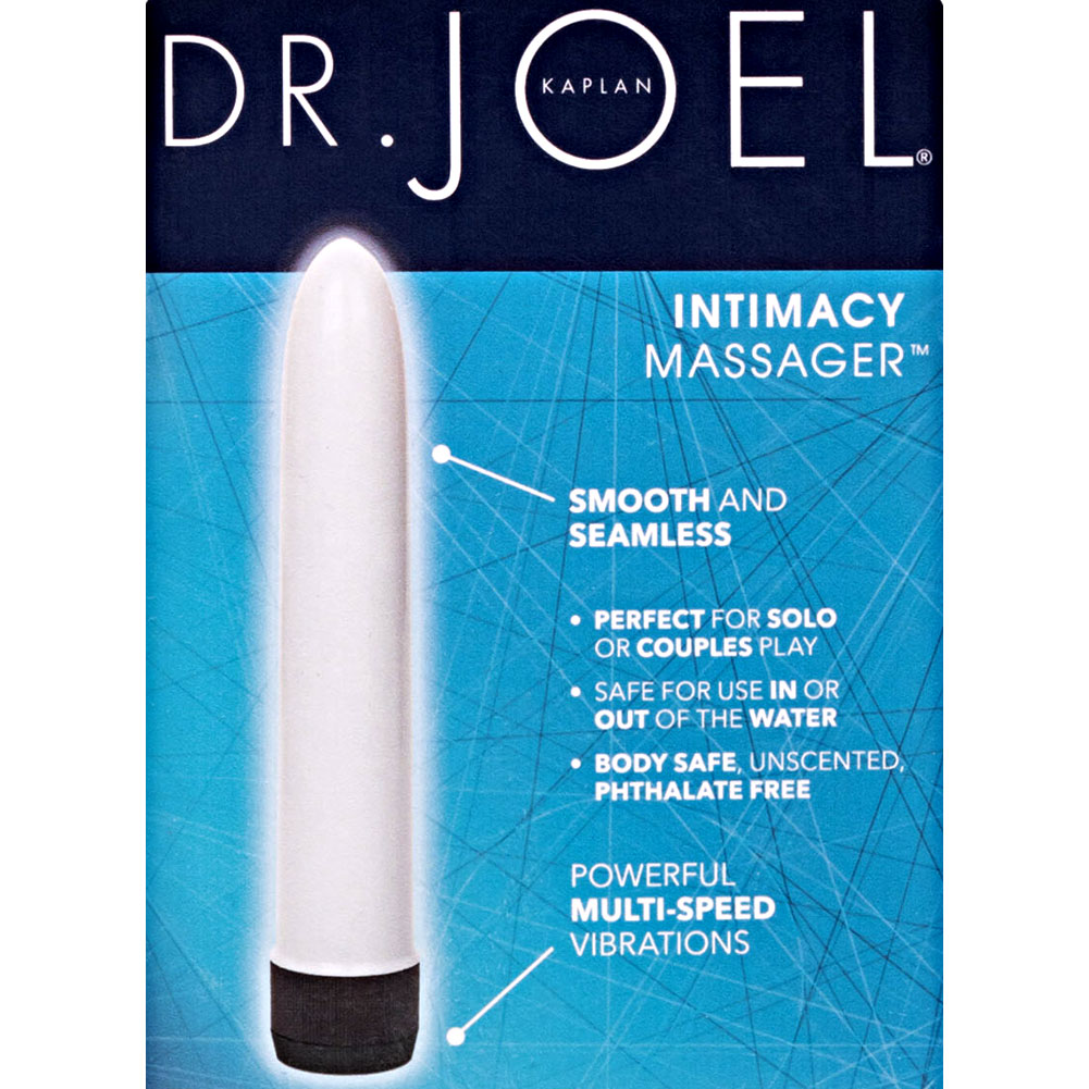 "California Exotics Dr. Joel Kaplan Intimacy Massager Vibrator 6.5"" White - View #1"