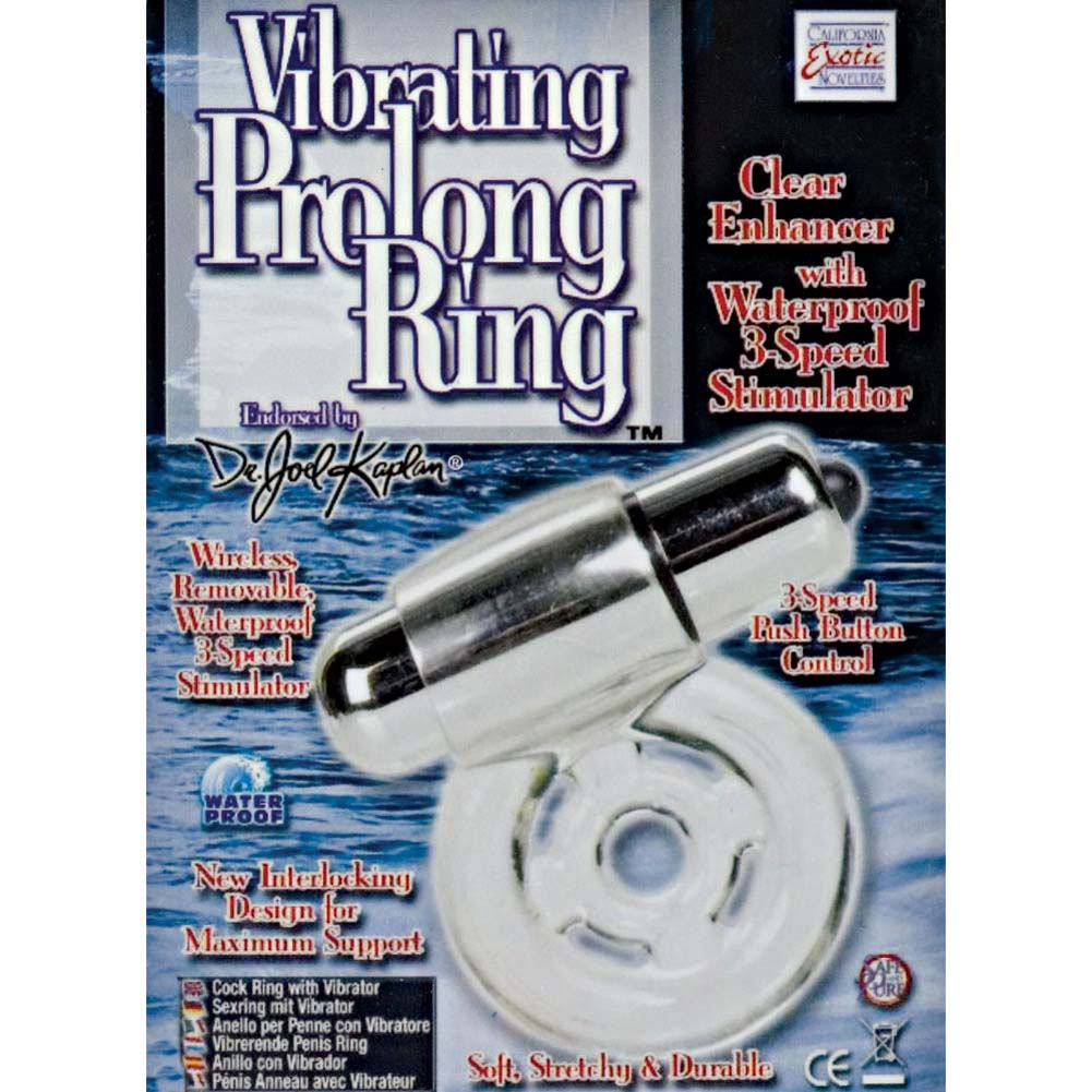 CalExotics Dr. Joel Kaplan Vibrating Prolong Ring for Men Clear - View #1