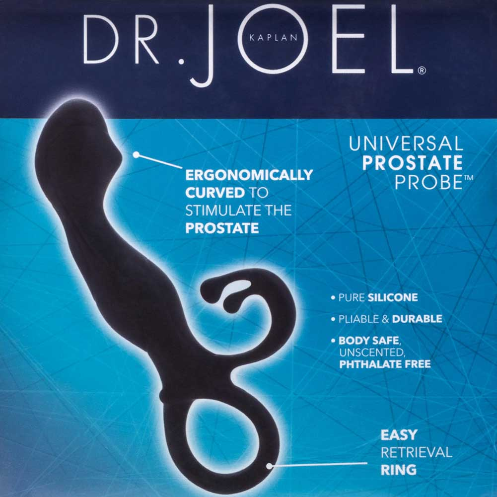 "California Exotics Dr. Joel Kaplan Universal Prostate Probe 4"" Black - View #1"
