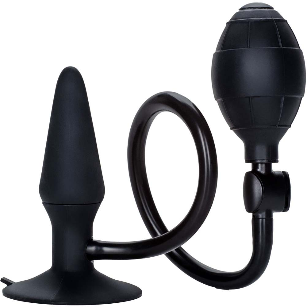 "California Exotics Dr. Joel Kaplan Silicone Inflatable Plug 3.75"" Black - View #2"
