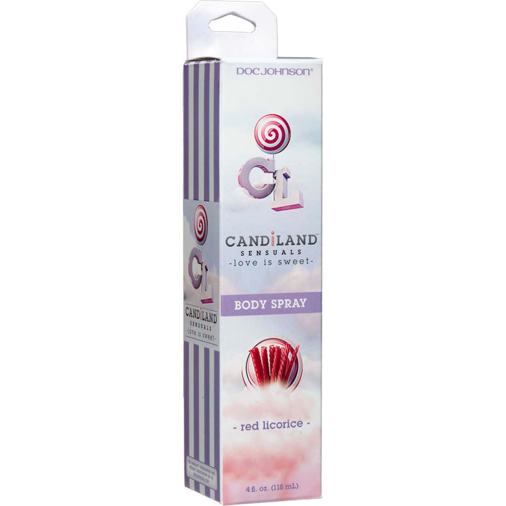 CANDiLAND SENSUALS Flavored Lickable Body Spray 4 Fl.Oz 120 mL Red Licorice - View #1