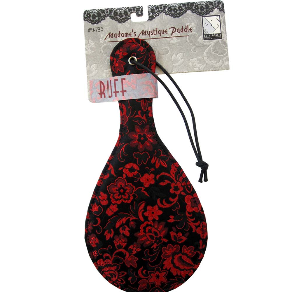 "Ruff Doggie MadameS Mystique Leather Paddle 10.5"" Red/Black - View #4"
