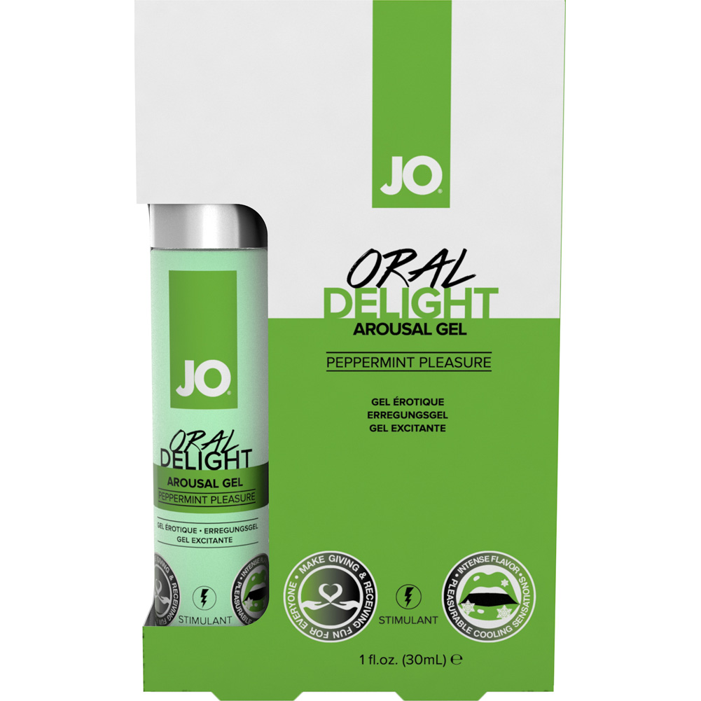 JO Oral Delight Arousal Gel 1 Fl.Oz 30 mL Peppermint - View #1