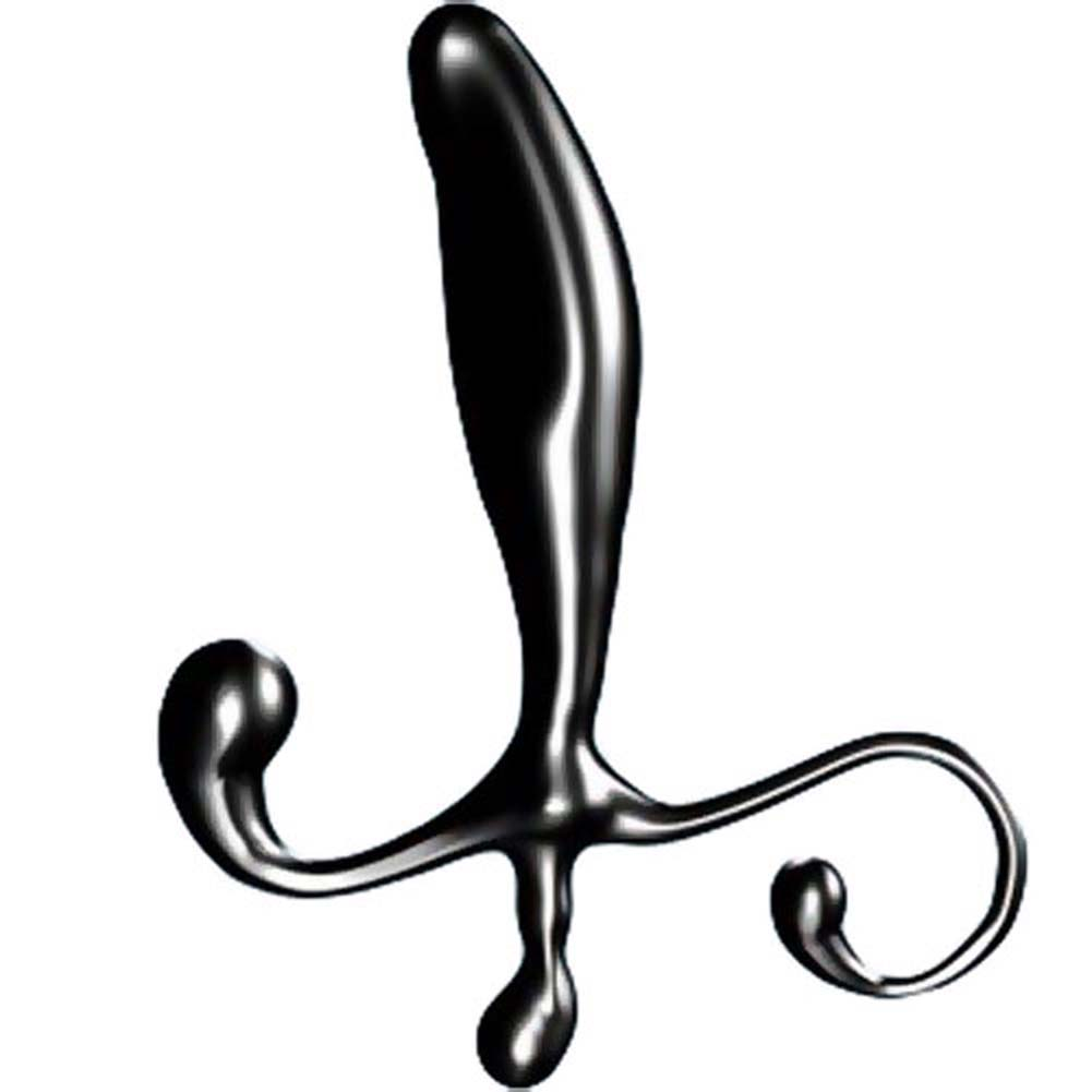 "Euphoria Male G-Spot Stimulator - Prostate and Perineum Anal Probe 3.75"" Black - View #1"
