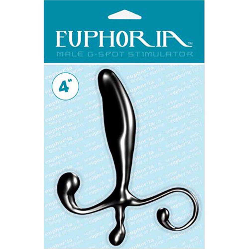 "Euphoria Male G-Spot Stimulator - Prostate and Perineum Anal Probe 3.75"" Black - View #3"