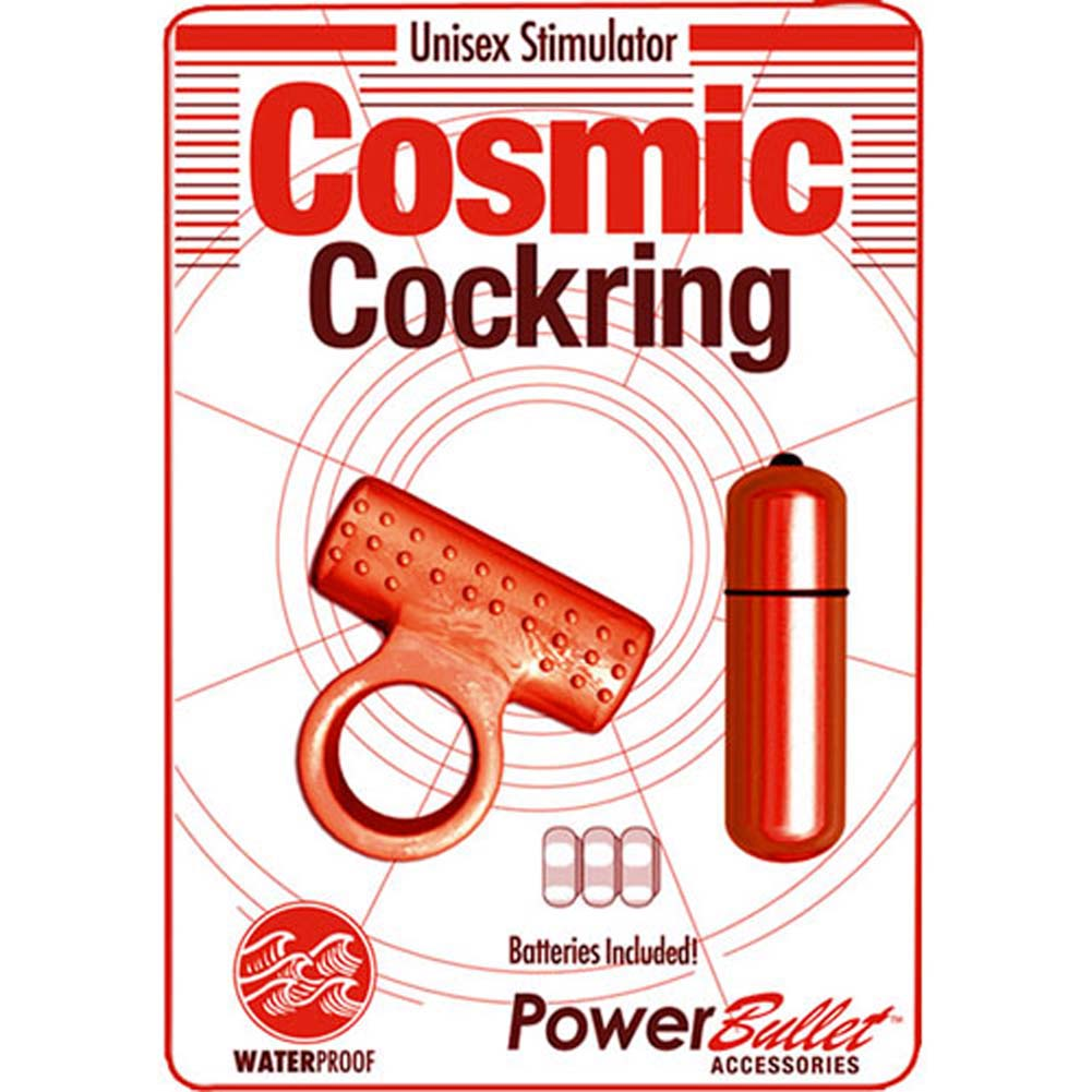 Cosmic Vibrating Cockring Red - View #1