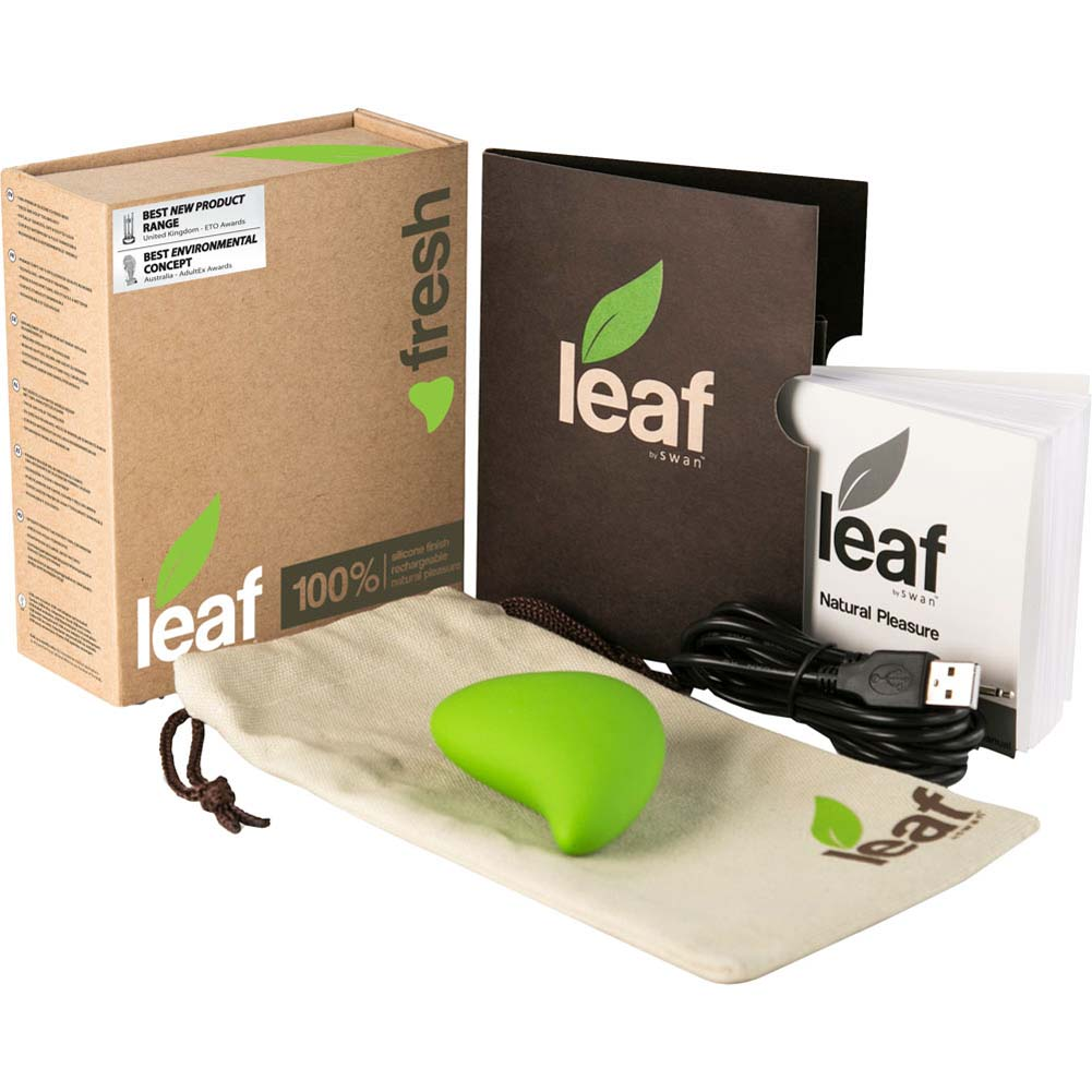 "Fresh by Leaf - Rechargeable Silicone Vibrator 2.75"" Green - View #1"