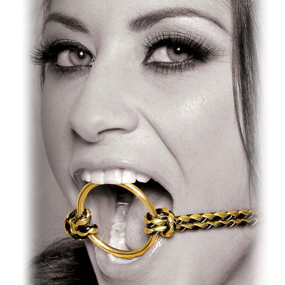 Fetish Fantasy Gold Open Mouth Gag Gold - View #2