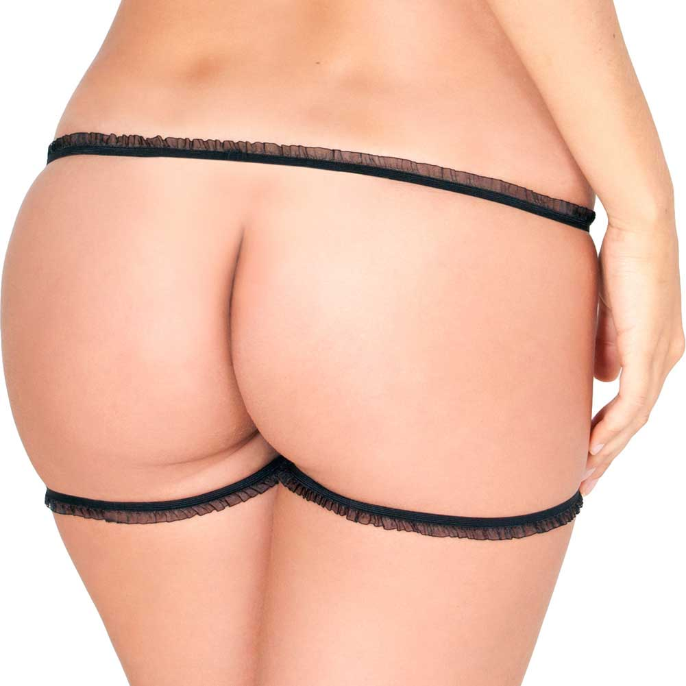 Rene Rofe Straps Only Panty Small-Medium Black - View #2
