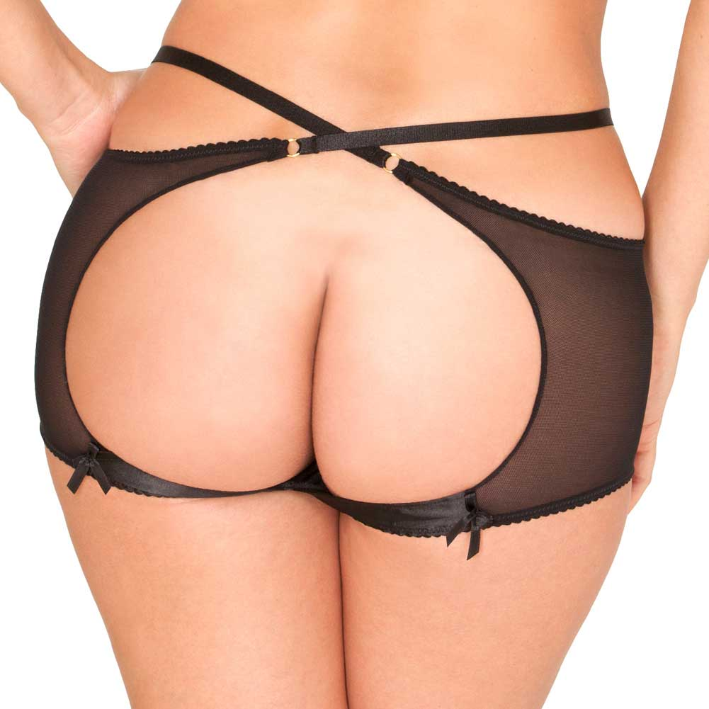Rene Rofe Open Back Retro Panty Medium-Large Black - View #2