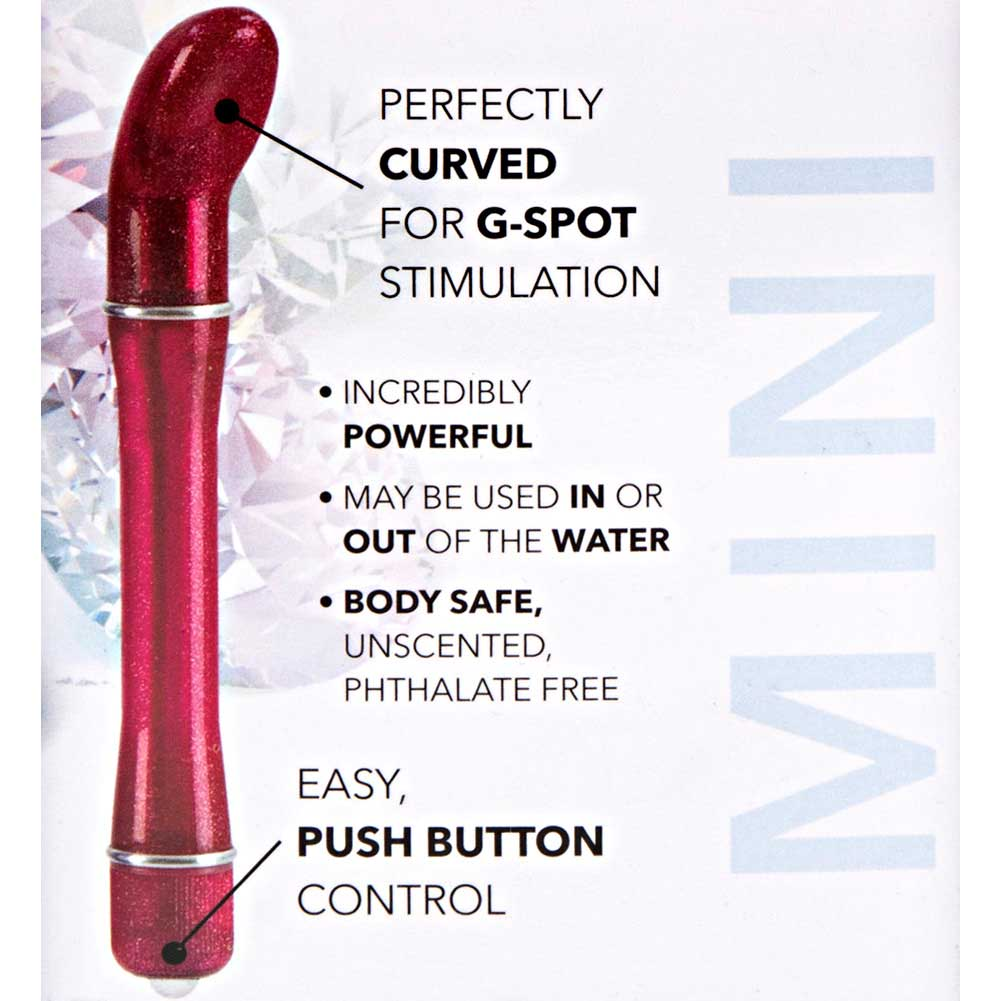"California Exotics Waterproof Pixies Glider G-Spot Vibrator 5.5"" Red - View #1"
