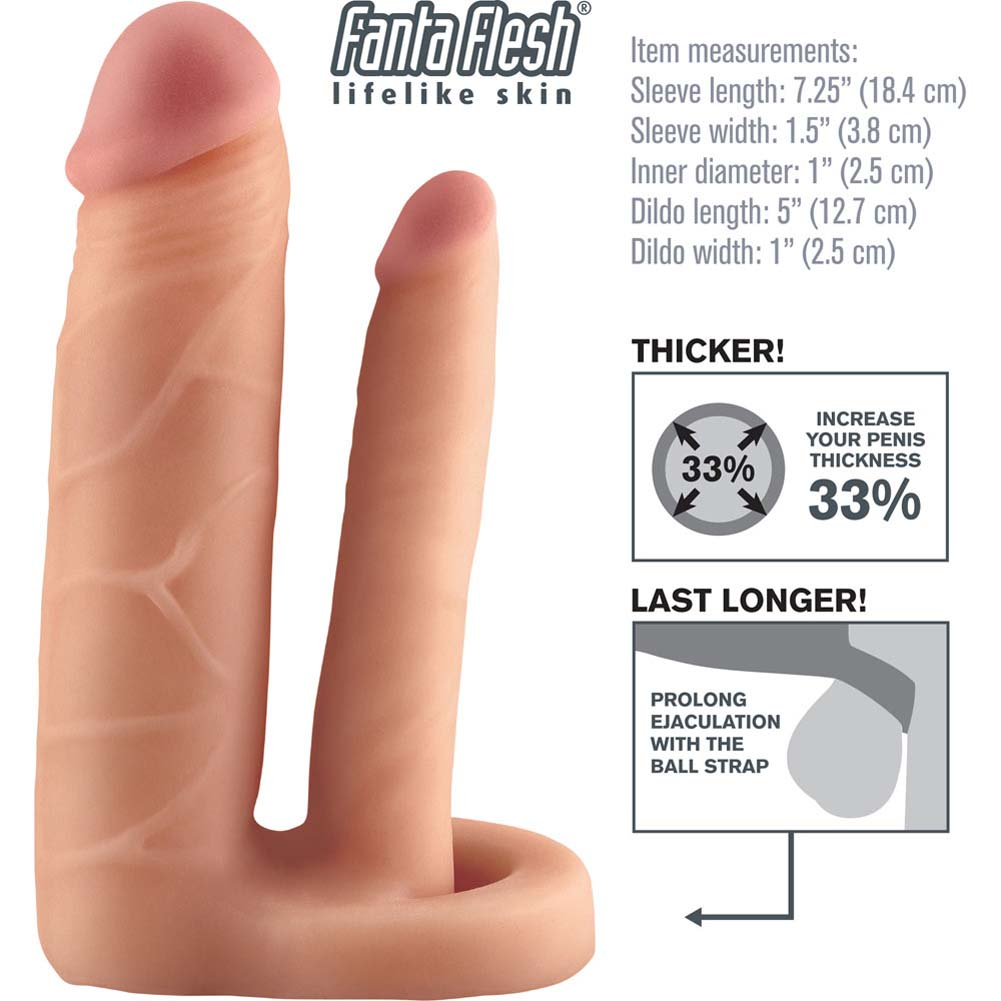 "Fantasy X-Tensions Double Trouble Fanta Flesh Extension 7.25"" Natural - View #1"