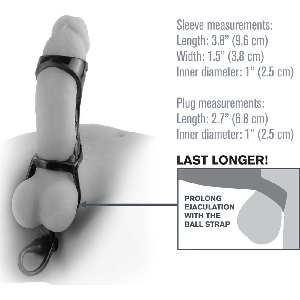"Fantasy X-Tensions Extreme Enhancer with Anal Plug 3.8"" Black - View #1"