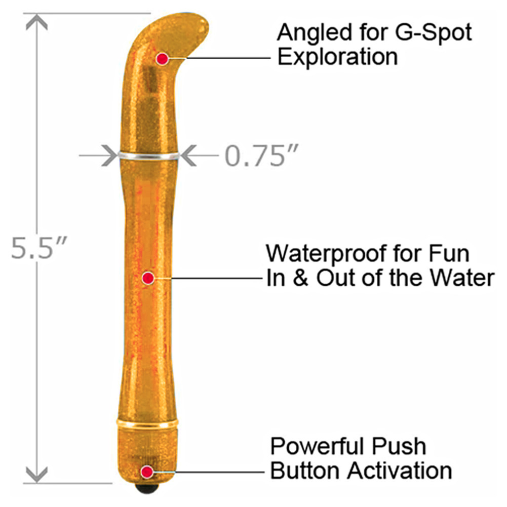 "California Exotics Waterproof Pixies Personal Mini G-Spot Vibrator 5.5"" Orange - View #1"