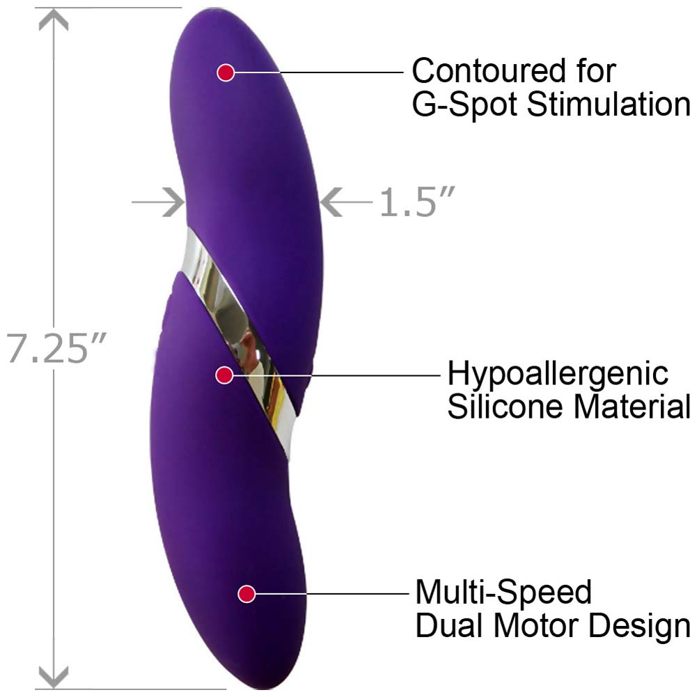 "Elan La Torsion USB Rechargeable Silicone Vibrator 7.25"" Purple - View #1"