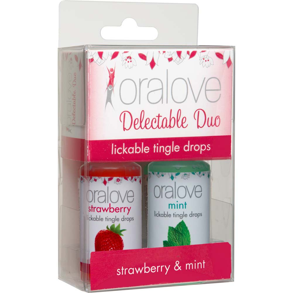 Oralove Delectable Duo Lickable Tingle Drops Strawberry Mint 2-Pack - View #1