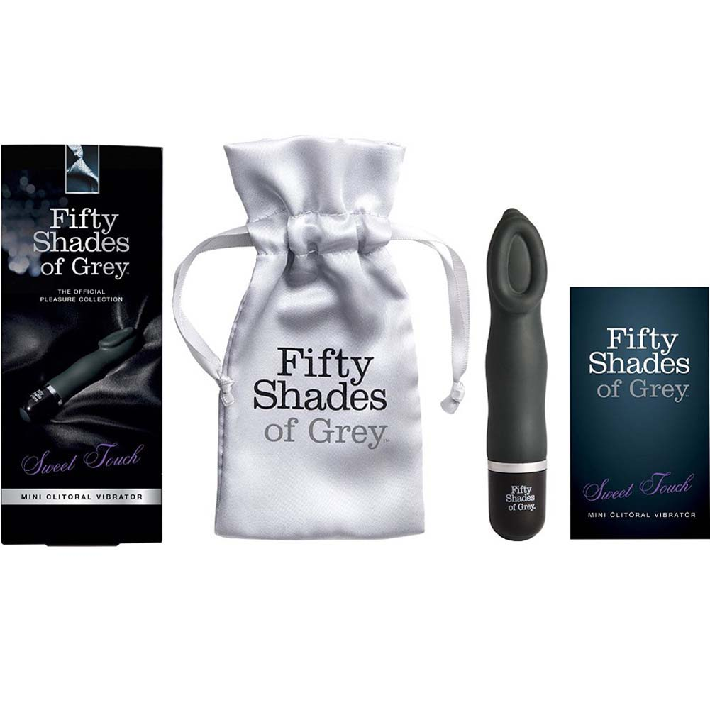 "Fifty Shades of Grey Sweet Touch Mini Clitoral Vibrator 5.5"" Black - View #1"