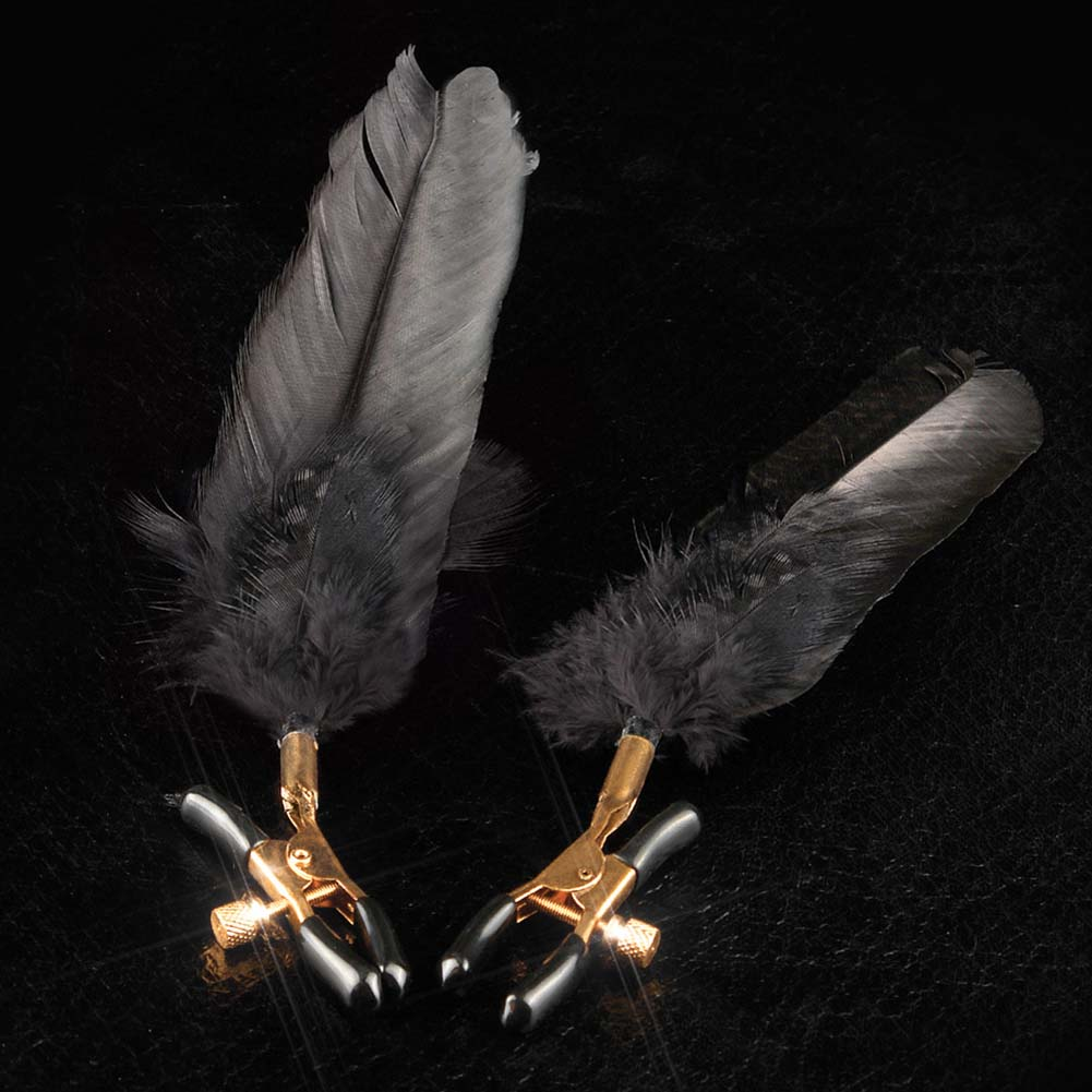 Fetish Fantasy Gold Fantasy Feather Clamps Black - View #3