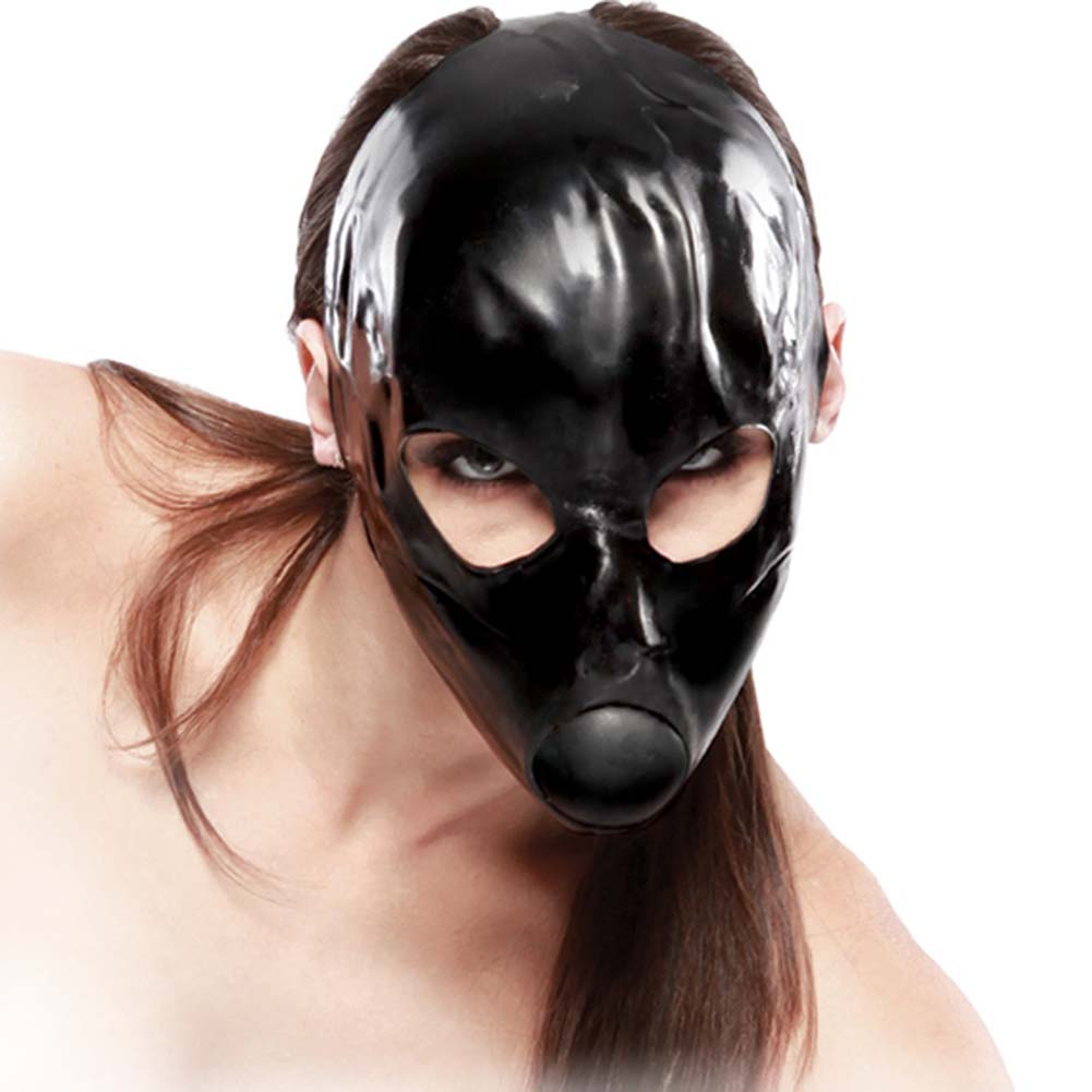 Fetish Fantasy Extreme Latex Ball Gag Mask Black - View #2