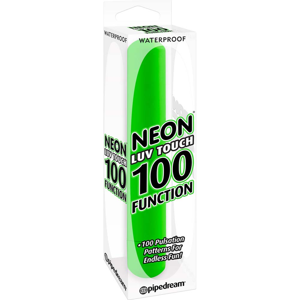 Neon Luv Touch 100 Function Vibrator Green - View #1