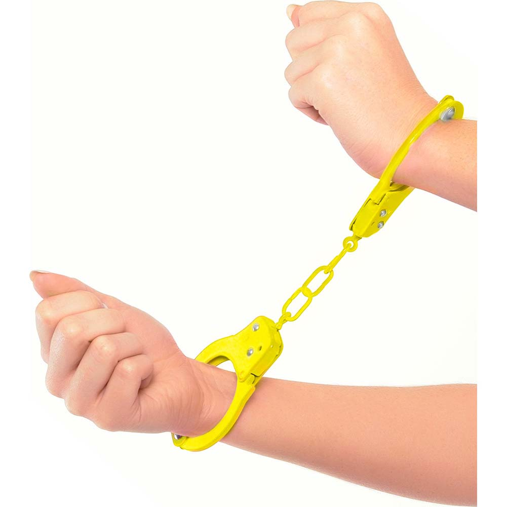 Neon Luv Touch Neon Fun Metal Cuffs Yellow - View #1