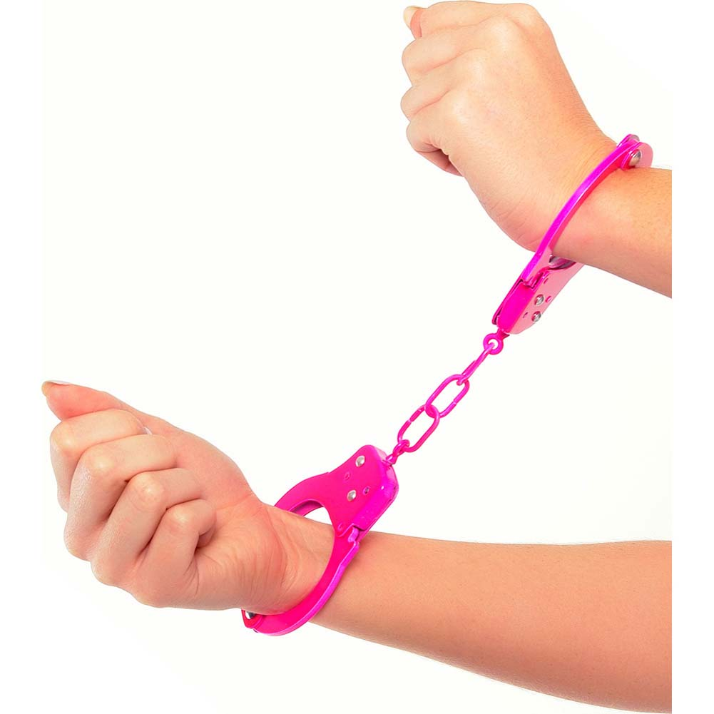 Neon Luv Touch Neon Fun Metal Cuffs Pink - View #1